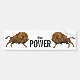european bison bumper sticker