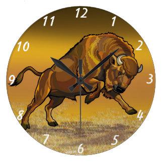 european bison large clock