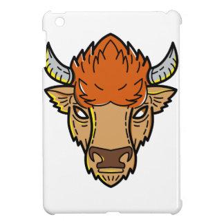 European Bison Mono Line Art Cover For The iPad Mini