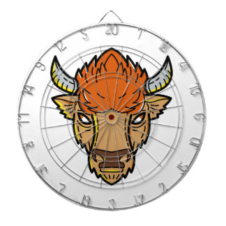 European Bison Mono Line Art Dartboard