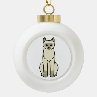European Burmese Cat Cartoon Ceramic Ball Decoration