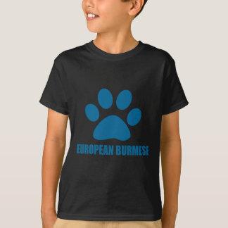 EUROPEAN BURMESE CAT DESIGNS T-Shirt