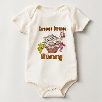 European Burmese Cat Mom Baby Bodysuit