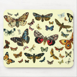 European Butterfly Collage Mouse Pad