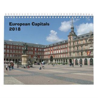European Capitals - 2018 Calendars