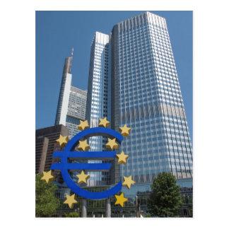 European Central Bank in Frankfurt Postcard