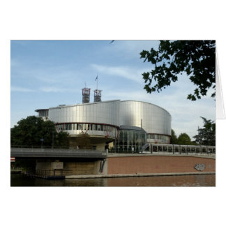 European Court of Justice Strasbourg picture Card