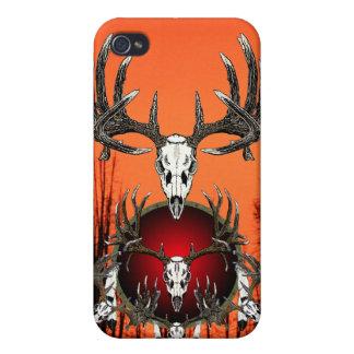 European  deer skulls case for iPhone 4