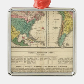European Discovery of America Atlas Map Ornament
