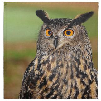 European Eagle Owl Napkin