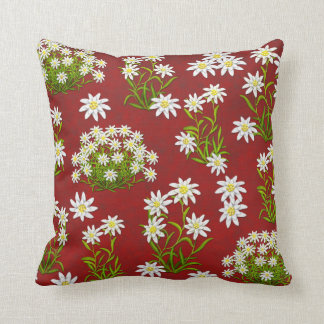European Edelweiss Alpine Flowers Pillow