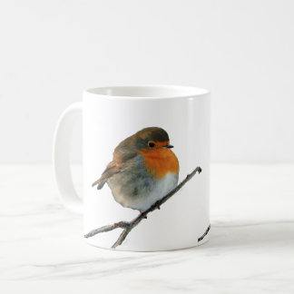European English Robin bird red breasts on tree Coffee Mug