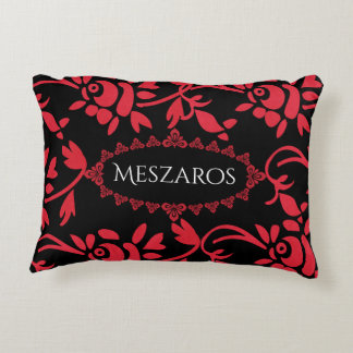 European Flair w/Name Decorative Cushion