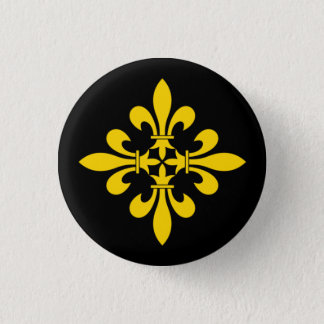 European Fleur-de-Lis Cross Badge