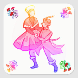 European Folk Dancing stickers
