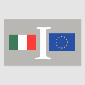 EUROPEAN ITALY ADHESIVE UNION RECTANGULAR STICKER