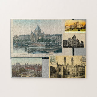European Jewish Synagogues on Antique Postcards Jigsaw Puzzle