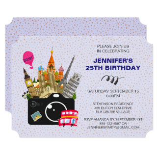European Landmarks Taste of Europe Birthday Card