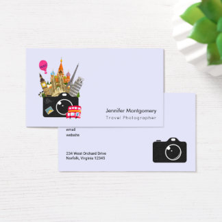 European Landmarks Travel Photographer Business Card