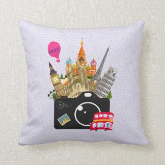 European Landmarks with a Camera Cushion