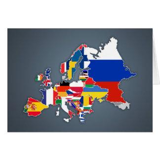 European Map | Country Flags Card