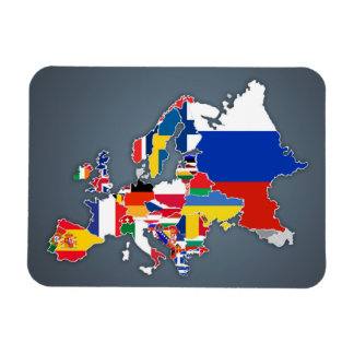 European Map | Country Flags Magnet