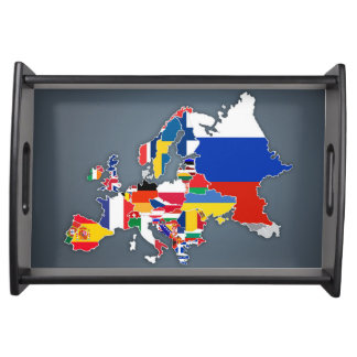 European Map | Country Flags Serving Tray
