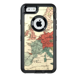 European Map Country Vintage OtterBox Defender iPhone Case