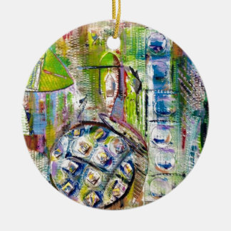 european market abstract round ceramic decoration