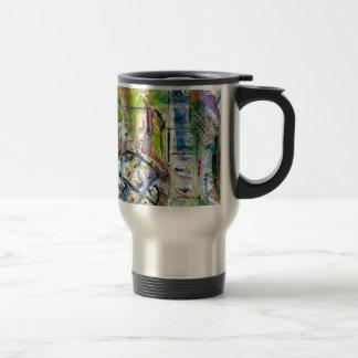 european market abstract travel mug
