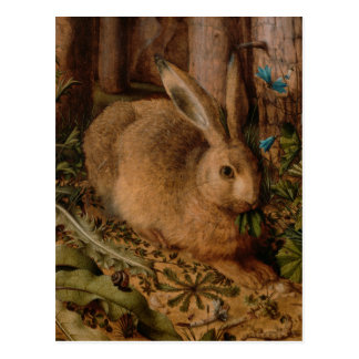 European Painting detail for Rabbit Year 2023 Postcard