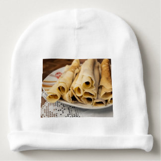 European pancakes baby beanie