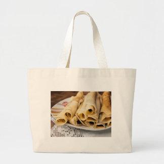 European pancakes large tote bag