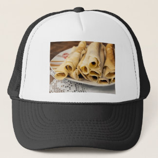 European pancakes trucker hat