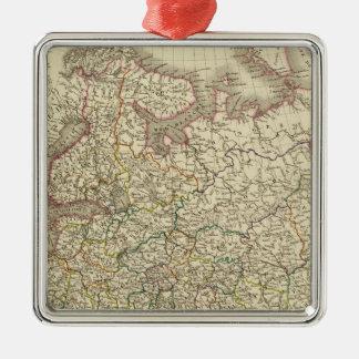 European Russia, Poland Silver-Colored Square Decoration