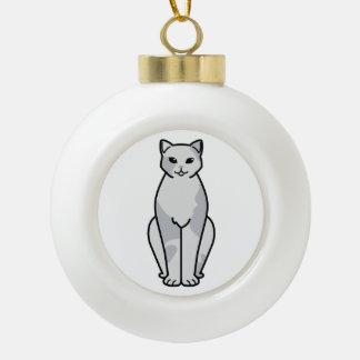 European Shorthair Cat Cartoon Ceramic Ball Decoration