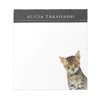 European Shorthair Kitten Watercolor Painting Notepad