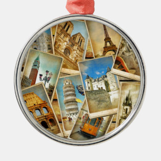 European snapshots metal ornament