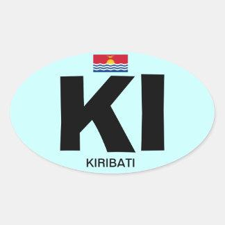 European-style, KIRIBATI* Oval Sticker