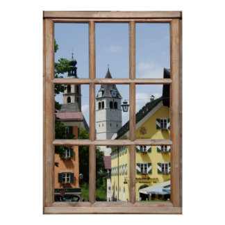 European Town View from a Window Print