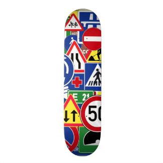European Traffic Signs Collage Skate Deck