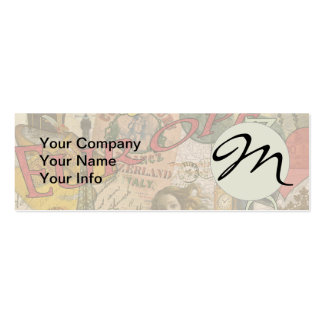 European Travel Vintage London Rome Paris Pack Of Skinny Business Cards