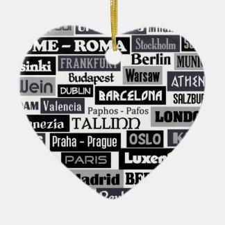 European Traveler custom ornament