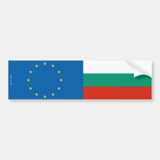 European Union & Bulgarian Flags Bumper Sticker