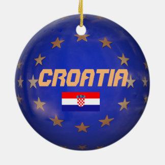 European Union Croatia Christmas Ornament