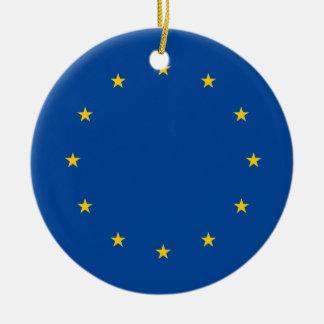 European Union Round Ceramic Decoration