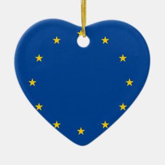 European Union Ceramic Heart Decoration