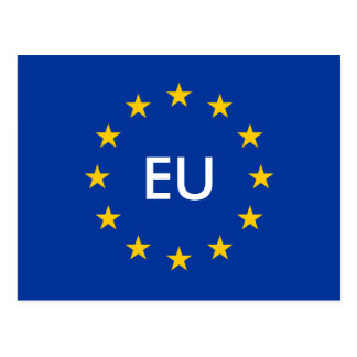 European Union EU flag postcards