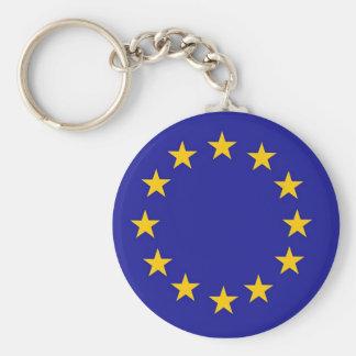 European Union Flag Basic Round Button Key Ring