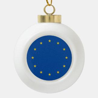 European Union Flag Ceramic Ball Decoration